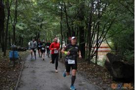 Sześcioro biegaczy podczas biegu
