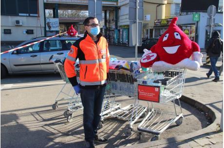Zbiórka rzeczy dla pacjentów Szpitala Śląskiego w Cieszynie / fot. MSZ