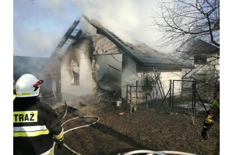 Fot. M. Pokrzywa - pożar w Gumnach