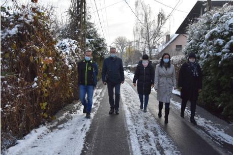 Odbiór prac na ul. Astrów w Goleszowie. Fot: UG Goleszów