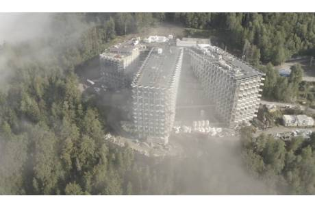 Nowych hotel w Wiśle (zdjęcie z czasu budowy) fot. faceboook