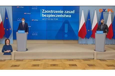 Konferencja prasowa premiera i ministra zdrowia.