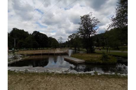 Oczko wodne w Wiśle-Jonidle, zdjęcie z lipca 2019 r. Fot. KR/ox.pl