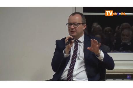 Adam Bodnar w cieszyńskiej świetlicy Krytyki Politycznej, styczeń 2020. Fot. arc.ox.pl