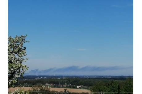Dym było widać z okien po polskiej stronie Śląska Cieszyńskiego Fot: czytelnik