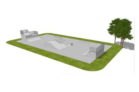 Projekt skateparku fot. UG Jasienica