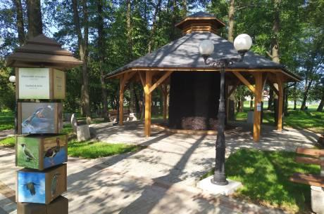 Tężnia solankowa, która powstała w kompleksie Drzewiarz w Jasienicy. fot. mat.pras.