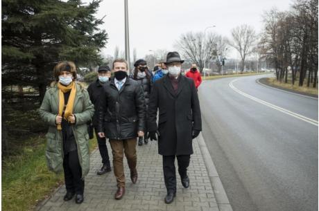 Odbiór końcowy ul. Góreckiej w Skoczowie / fot. mat.pras.