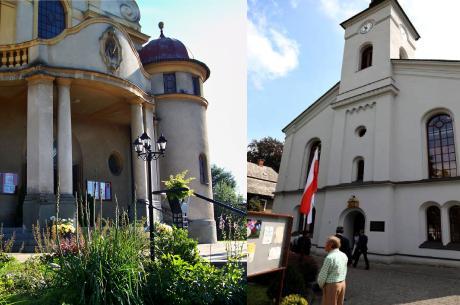 Kościół p.w. św. Michała Archanioła w Goleszowie (z lewej) i zbór Ewangelicko-Augsburski w Goleszowie (po prawej). Fot. KR/Ox.pl / facebook.com/luteranie.goleszow
