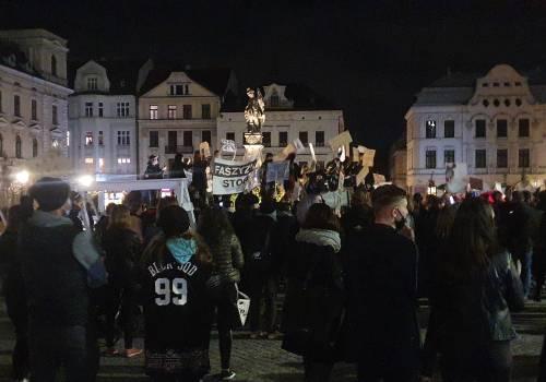 Ostatnim protestem na cieszyńskim Rynku był protest kobiet fot. JŚ/OX.PL