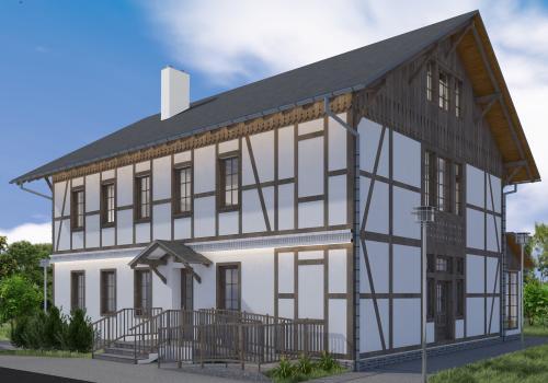 Wizualizacja budynku po remoncie. Źródło: facebook.com/radoslaw.g.ostalkiewicz