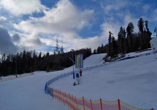 Zdjęcie z 20 lutego 2021 - ośrodek narciarski Skolnity w Wiśle. Fot. KR/ox.pl