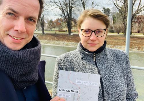 """Zaangażowani w akcję """"Tęsknię za Tobą Czechu""""/ fot. Člověk na hranici"""