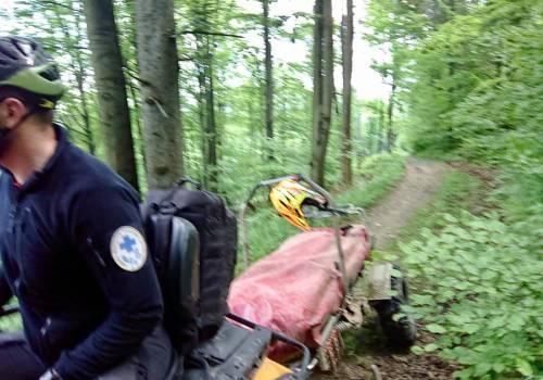 Na trasach beskidzkich doszło w długi weekend do wypadków rowerowych. fot. GOPR BESKIDY