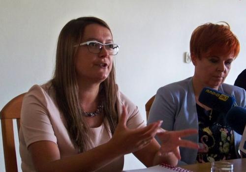 Magdalena Chorąży-Suchy i Gabriela Staszkiewicz. Fot. KR/Ox.pl