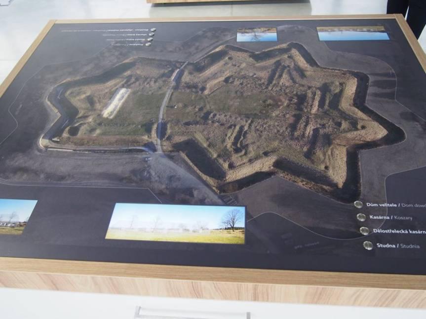 model fortyfikacji Szańce; fot. gotic.cz