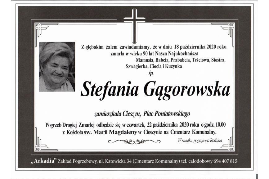Klepsydra Śp. Stefani Gągorowskiej