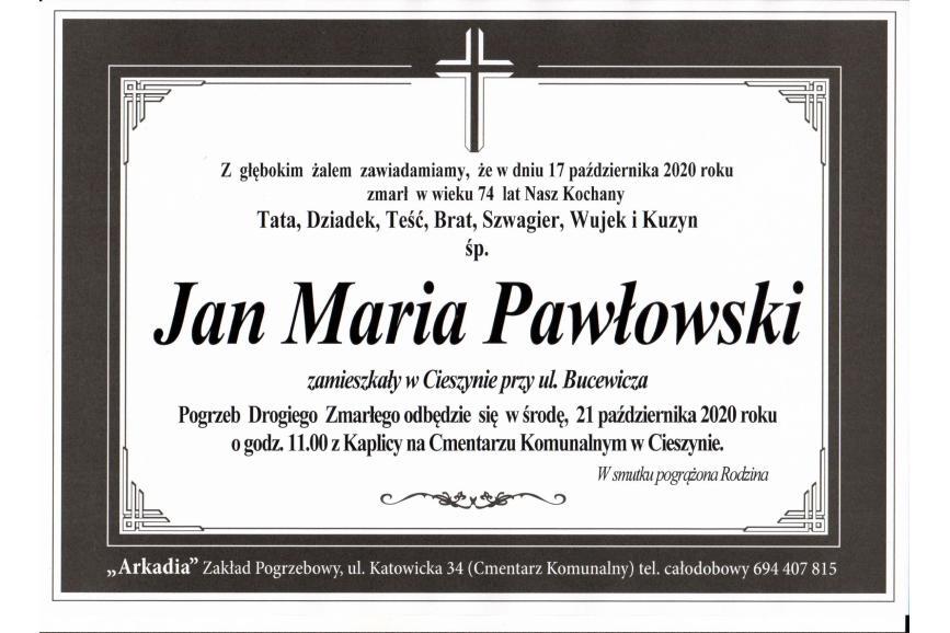 Klepsydra Śp. Jana Marii Pawłowskiego