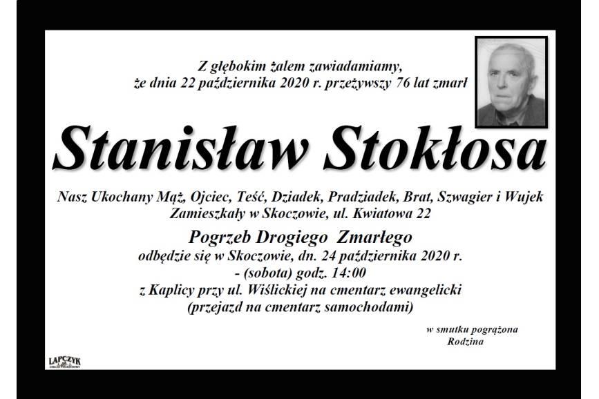 Klepsydra Śp. Stanisława Stokłosy