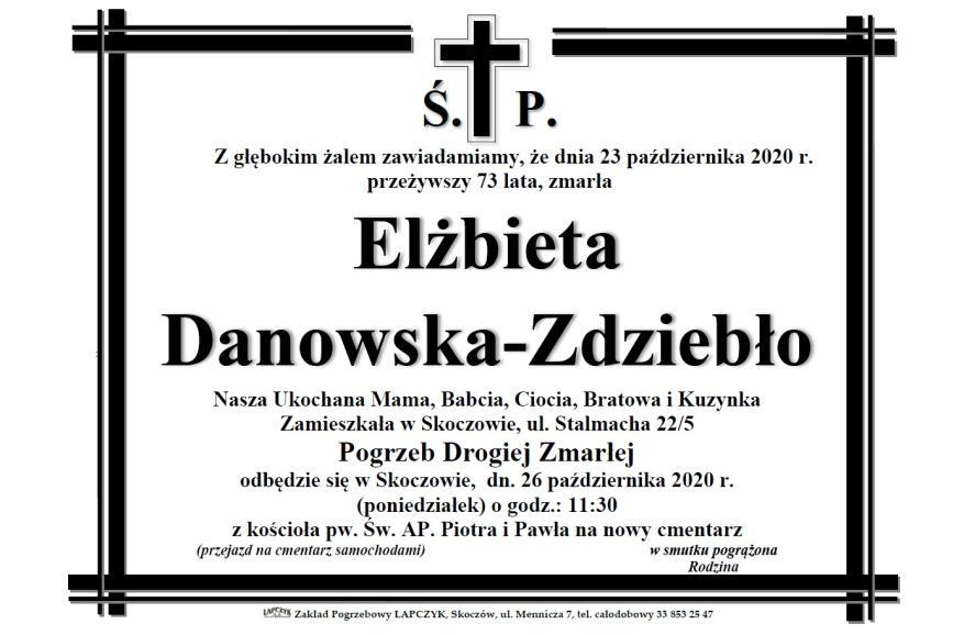 Klepsydra Śp. Elżbiety Danowskiej-Zdziebło