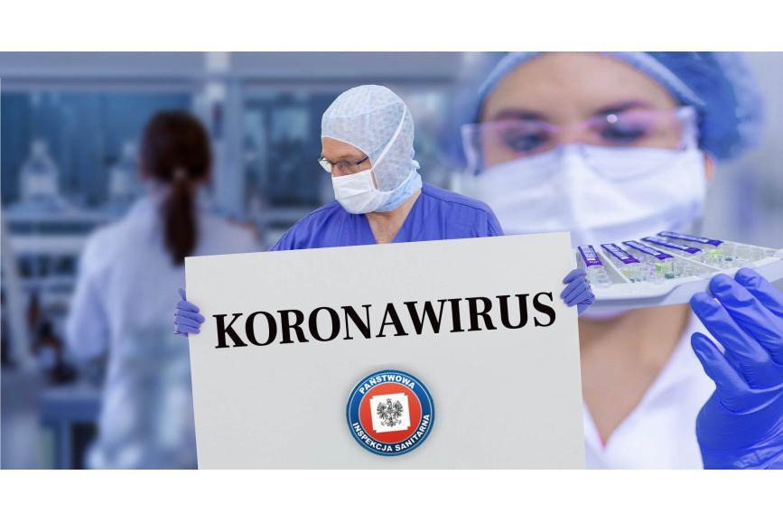 """Lekarz w maseczce trzymający tabliczke z napisem """"KORONAWIRUS"""""""