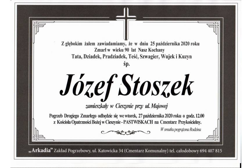 Klepsydra Śp. Józefa Stoszeka
