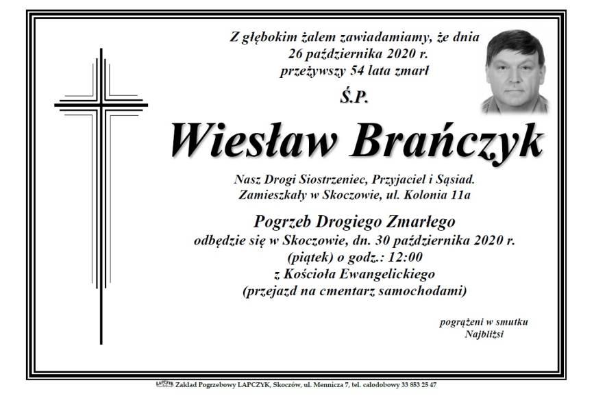 Klepsydra Śp. Wiesława Brańczyka
