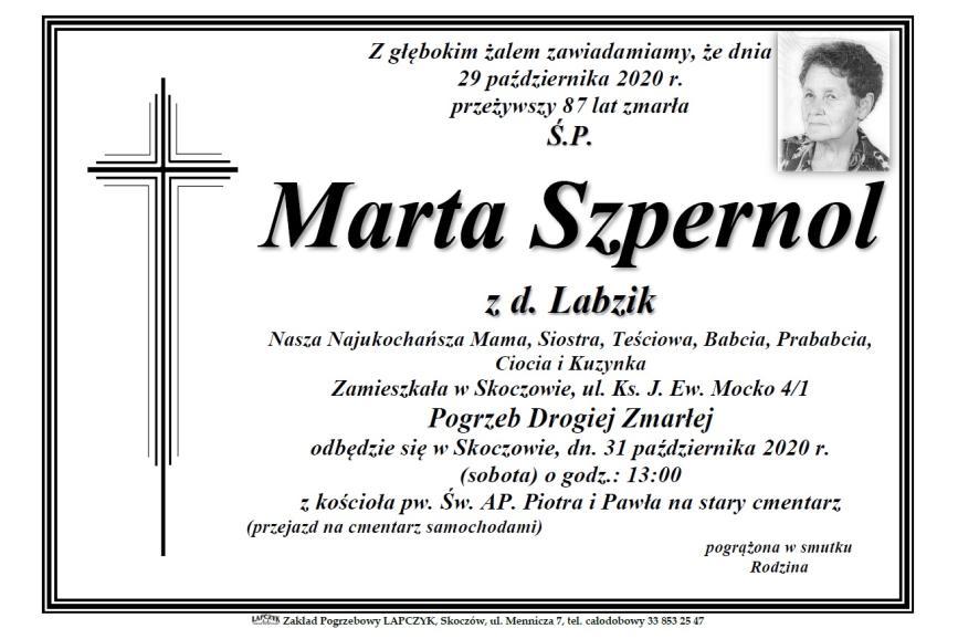 Klepsydra Śp. Marty Szpernol